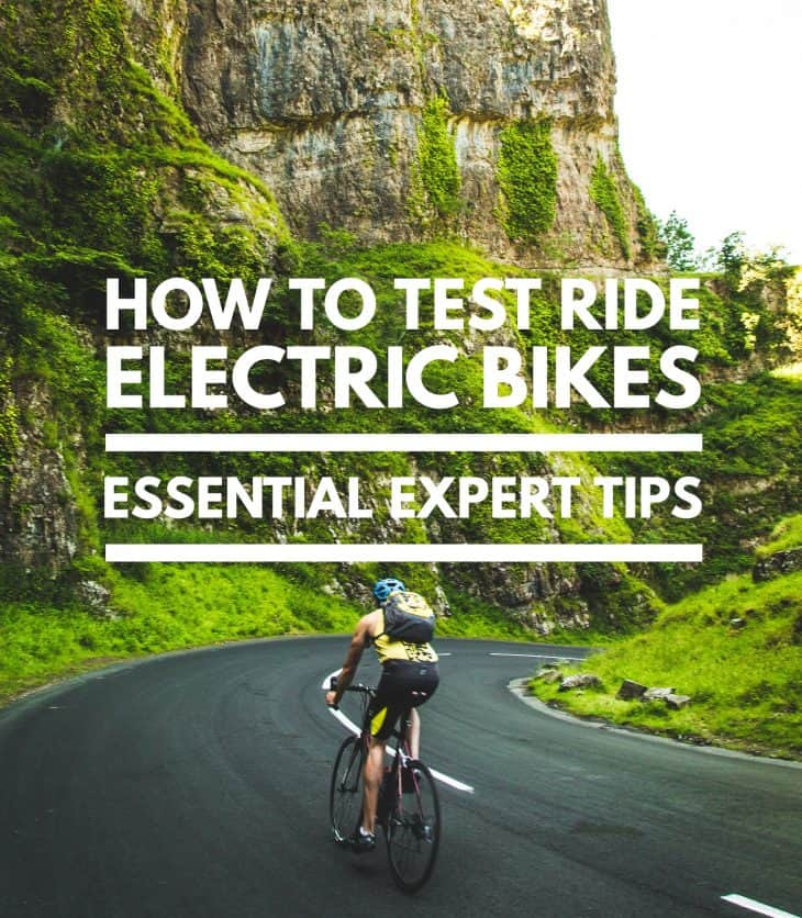 how to test ride an electric bike