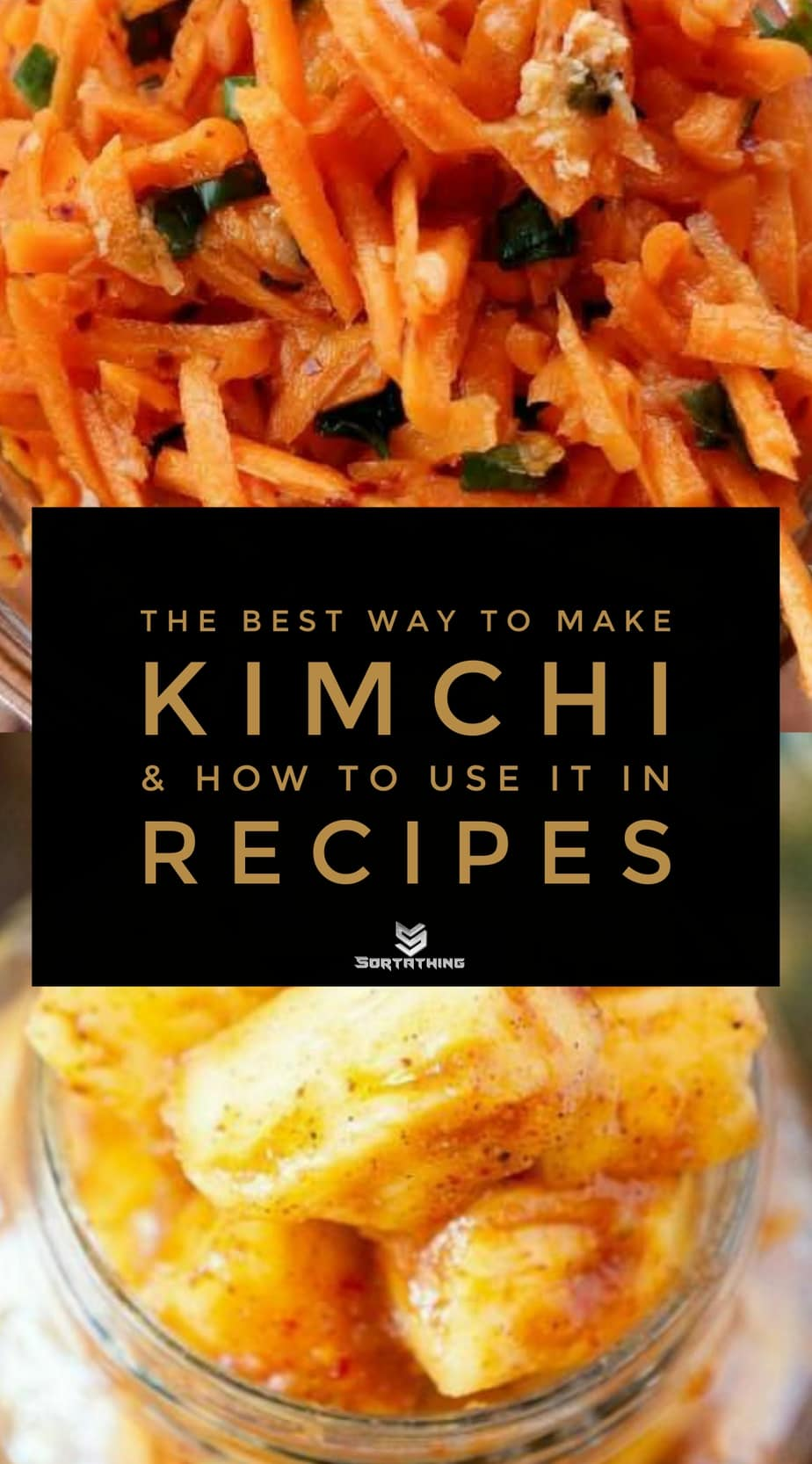 Carrot Kimchi and Pineapple Kimchi