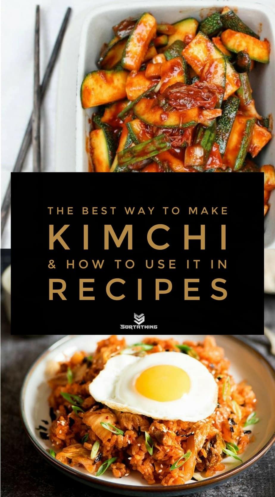 Zucchini Kimchi and Spicy Kimchi Pork Belly Fried Rice