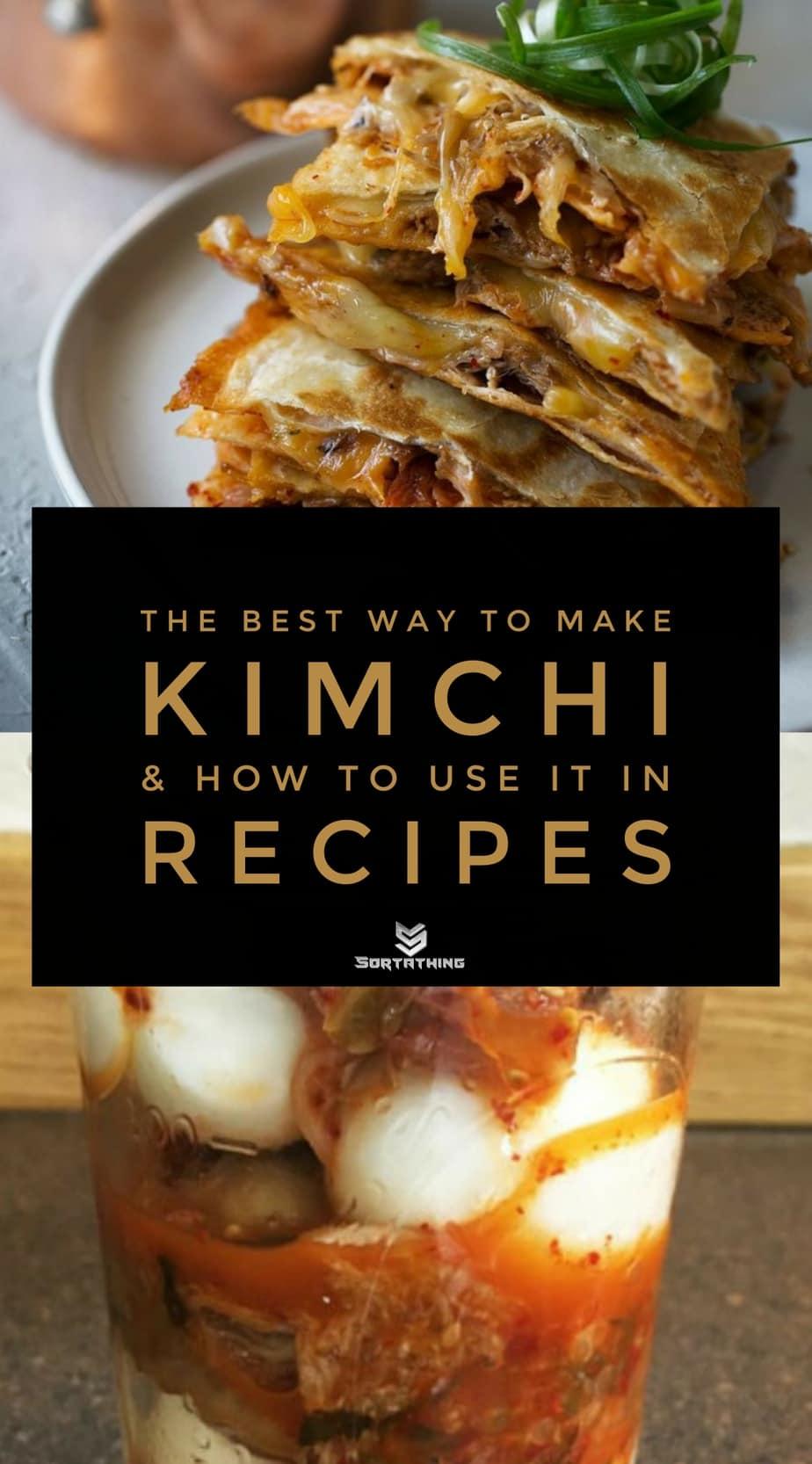 Korean Braised Pork and Kimchi Quesadilla and Kimchi Pickled Eggs