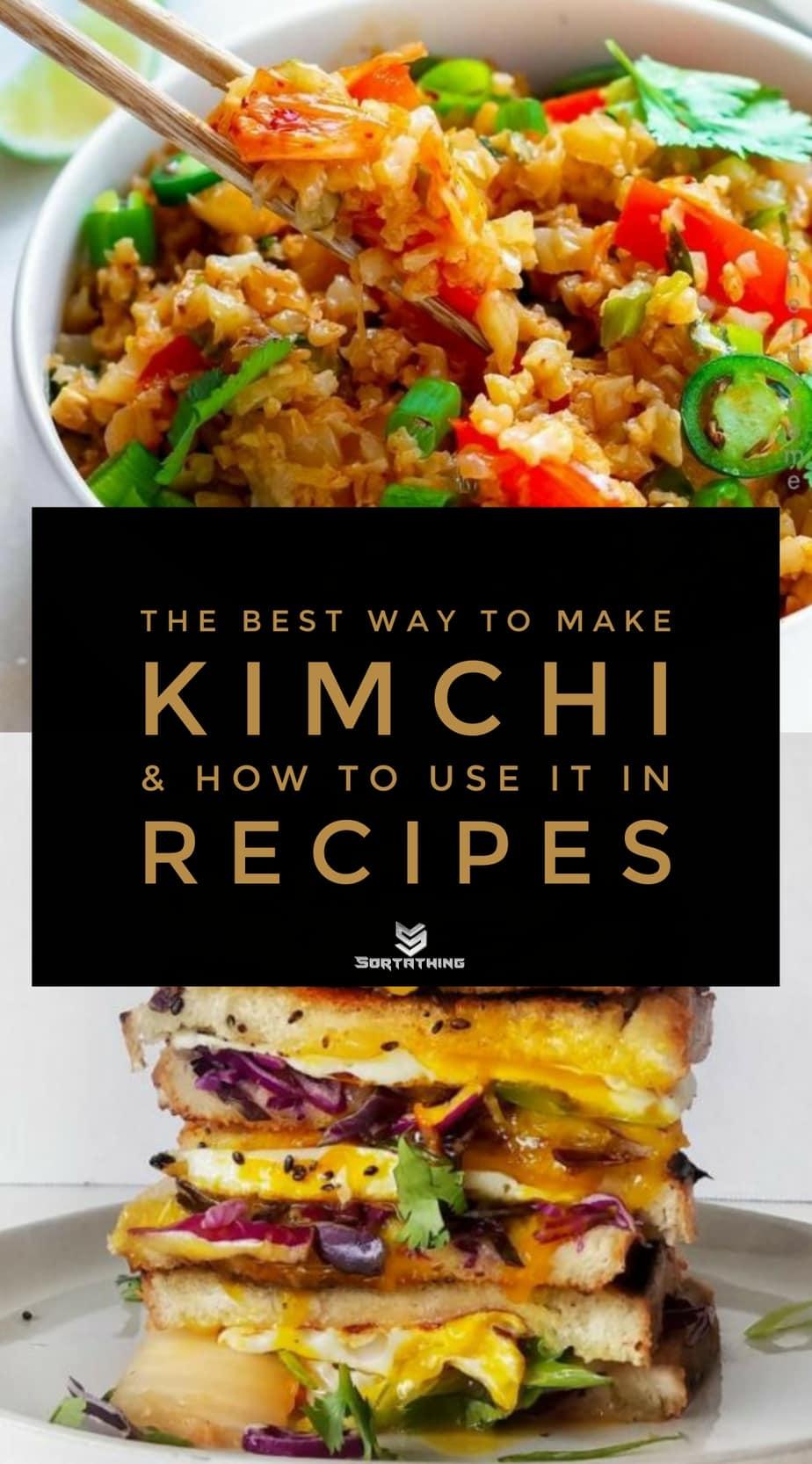 Cauliflower Kimchi Fried Rice and Kimchi Grilled Cheese