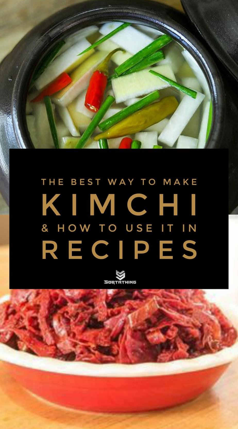 Dongchimi Korean Vegan Water Kimchi and Red Cabbage Kimchi