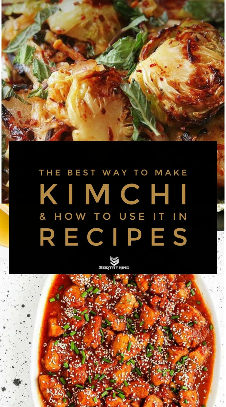 Brussel Sprouts Kimchi and Instant Pot Kimchi Chicken