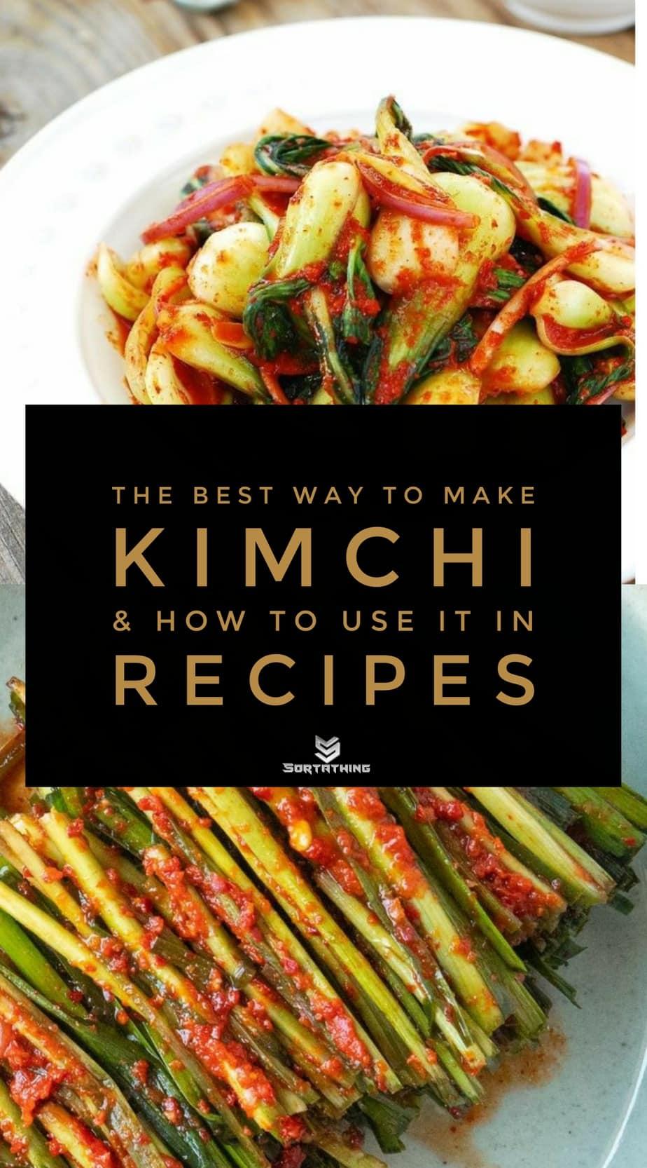 Baby Bok Choy Kimchi Salad and Garlic Chive Kimchi