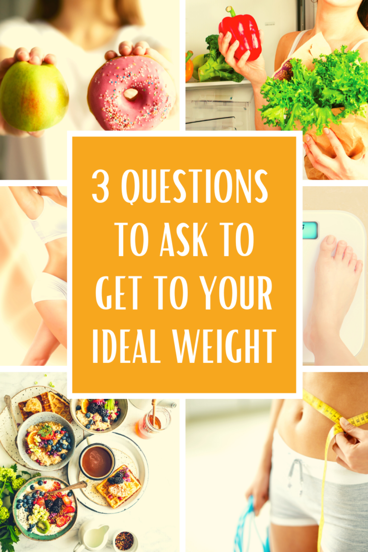 Ask Yourself 3 Questions to Get to Your Ideal Shape, and change the way you feel about food forever